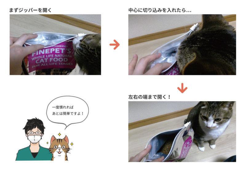 パッケージの開け方を図解!